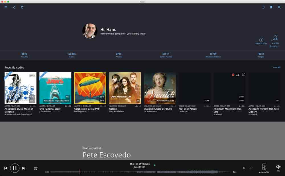 Roon Music player software, Reviews, The Hans Beekhuyzen Project